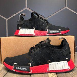 Adidas NMD R1 Black Grey Scarlet Size 9